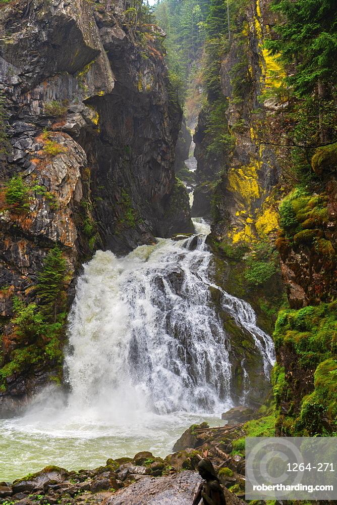 Riva waterfalls in summer, Campo Tures, Aurina Valley, Trentino-Alto Adige, Italy, Europe
