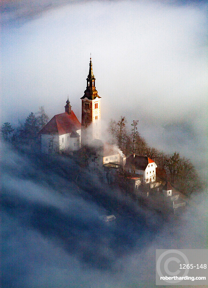 Lake Bled in the Julian Alps of the Upper Carniolan region, northwestern Slovenia, Europe