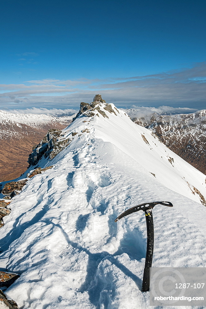 Sgurr a'Bhealaich Dheirg is the highest and finest munro on the Brothers Ridge - above Glen Shiel in Scottish Highlands