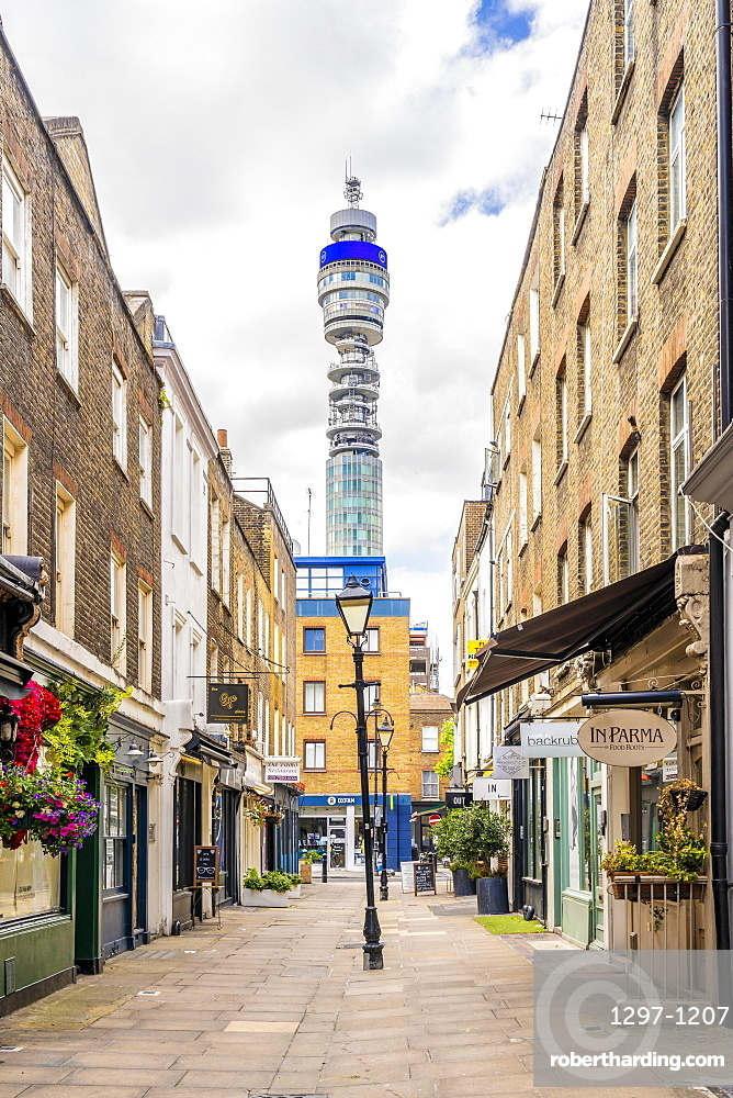 A view of the Post Office Tower in Marylebone, London, England, United Kingdom, Europe