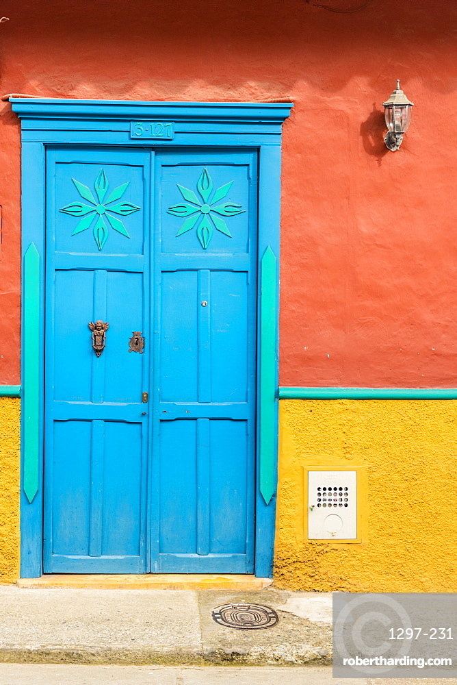 Colourful colonial architecture in Jerico, Antioquia, Colombia, South America