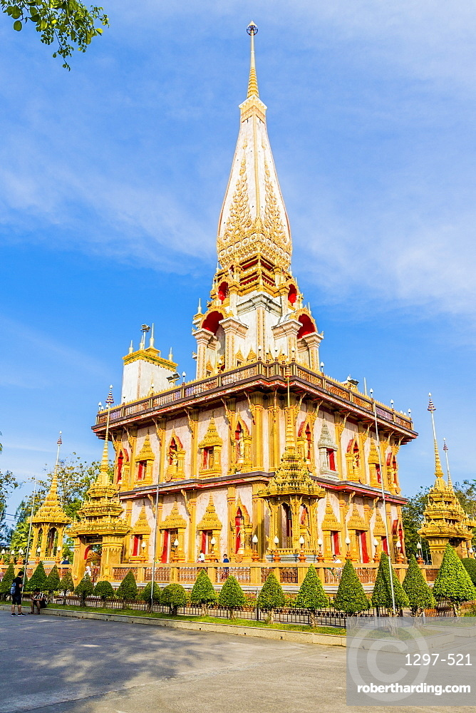 Chedi at Wat Chalong Temple in Phuket, Thailand, Southeast Asia, Asia