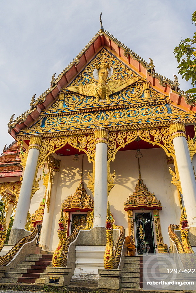 The colourful temple at the Office of National Buddhism, in Phuket Town, Phuket, Thailand, Southeast Asia, Asia