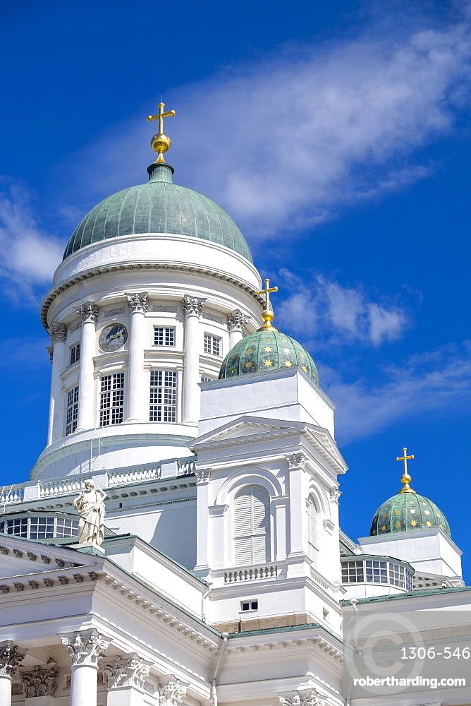 Detail of Helsinki Cathedral, Helsinki, Finland, Scandinavia