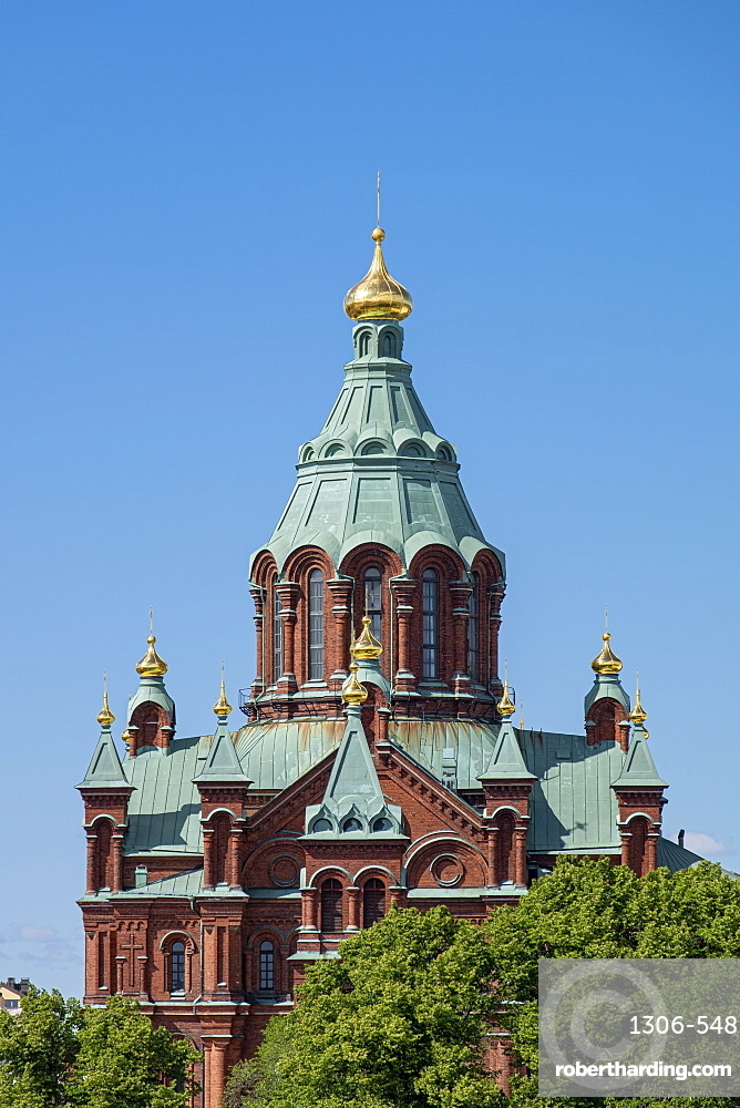 Roof detail of Uspenski Cathedral, Helsinki, Scandinavia