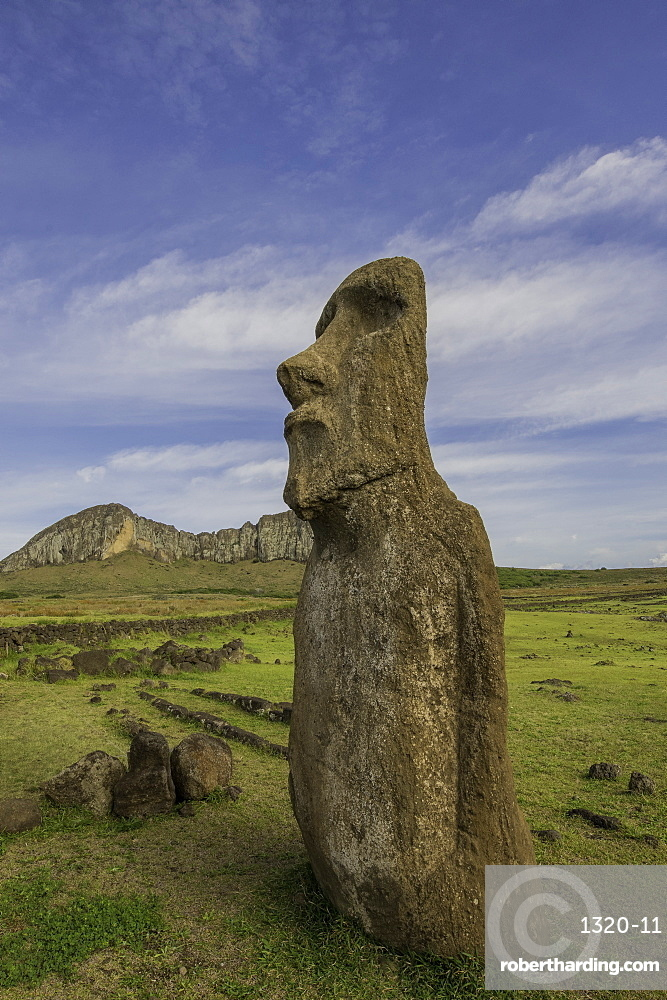 Easter Island heads, Easter Island Chile.