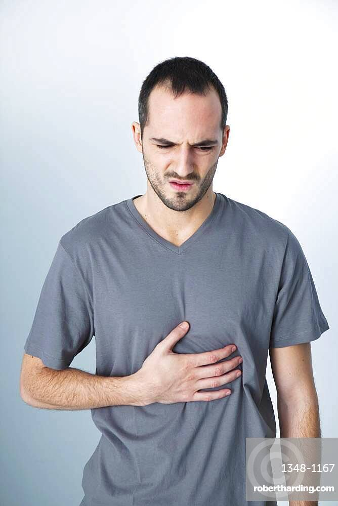 Stomach pain in a man