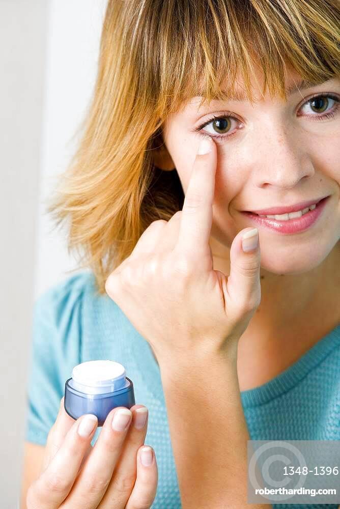 Moisturizing or anti-wrinkle cream.