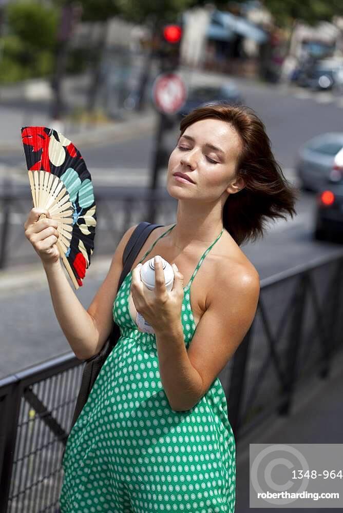Warm weather, woman