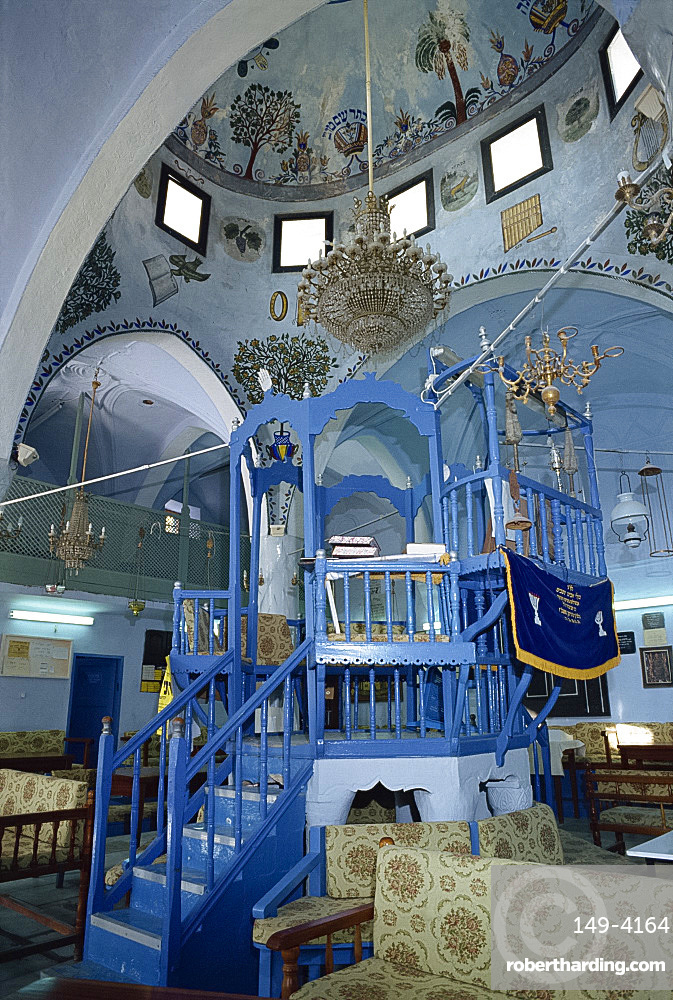 Interior of the church of St. Artemios at Karavostasis on Folegandros, Cyclades Islands, Greek Islands, Greece, Europe