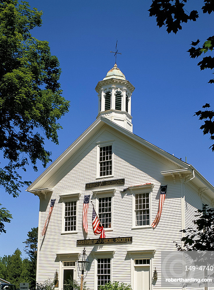 Colonial style building, Castine Historical Society, Castine, Maine, New England, United States of America, North America