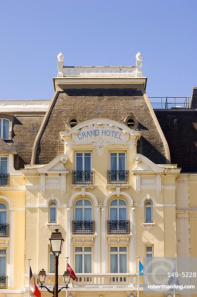 The Grand Hotel in Cabourg where Marcel Proust wrote 'A La Recherche du Temps Perdu', Cabourg, Normandy, France, Europe