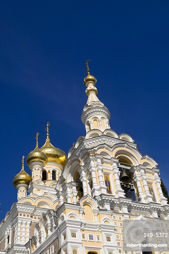 The Alexander Nevsky Cathedral, Yalta, Crimea, Ukraine, Europe