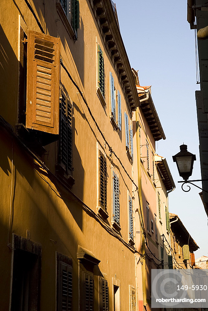 Old buildings in the centre of Rovinj, Istria, Croatia, Europe