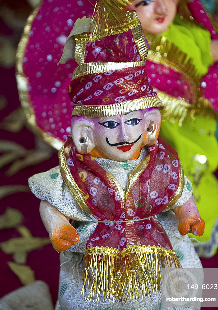 A heritage puppet on sale in Pushkar, Rajasthan, India, Asia