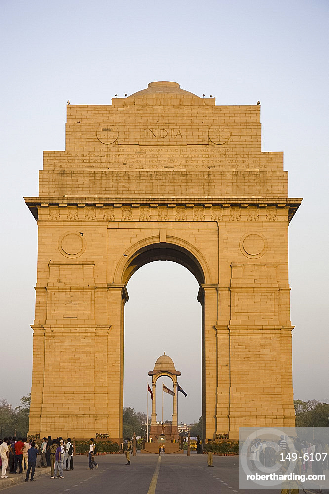 India Gate at the eastern end of Rajpath, New Delhi, India, Asia
