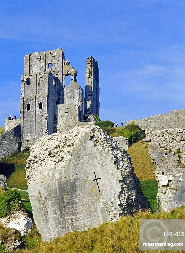 Corfe Castle, Dorset, England