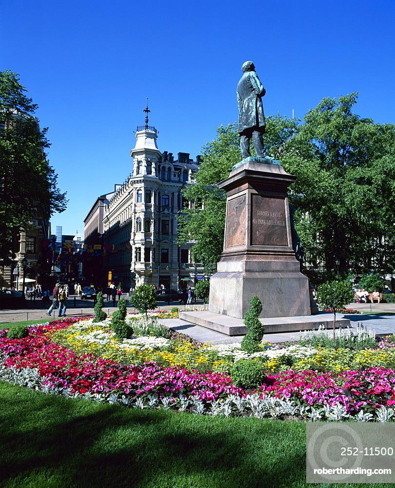 City centre park in the summer, Helsinki, Finland, Scandinavia, Europe
