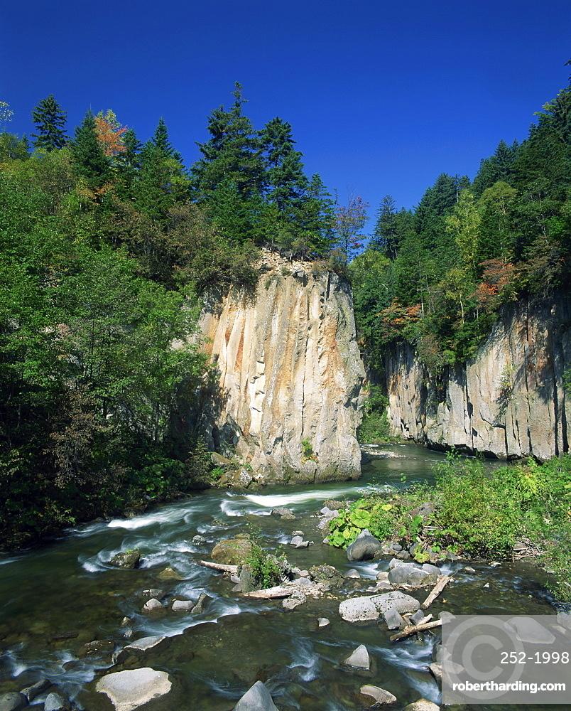 The Sounkyo Gorge, Kobako at Daisetsuzan on Hokkaido, Japan, Asia