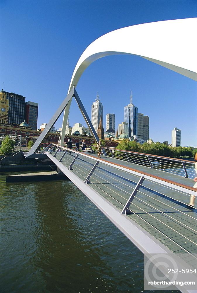City skyline from Southgate, Melbourne, Victoria, Australia