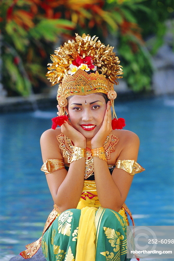 Portrait of a Legong Dancer, Bali, Indonesia