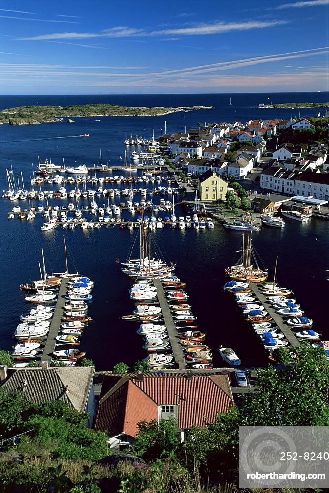 Risor, the White Town on the Skagerrak, south coast, Norway, Scandinavia, Europe
