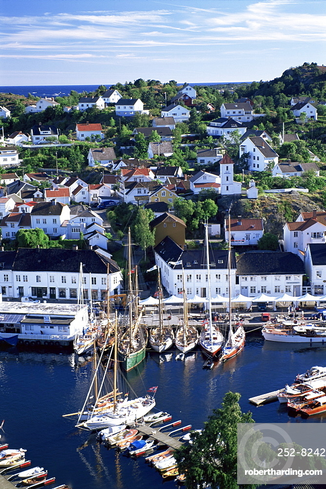 Risor, the White Town on the Skagerrak, south coast, Norway, Scandinavia, Europe