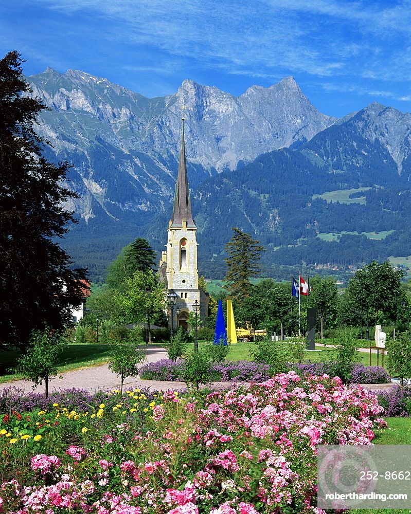 The spa town of Bad Ragaz, Switzerland, Europe