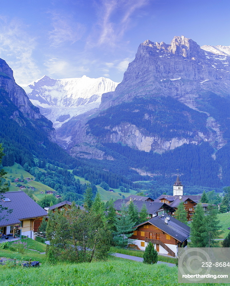 Grindelwald and the north face of the Eiger, Jungfrau region, Switzerland