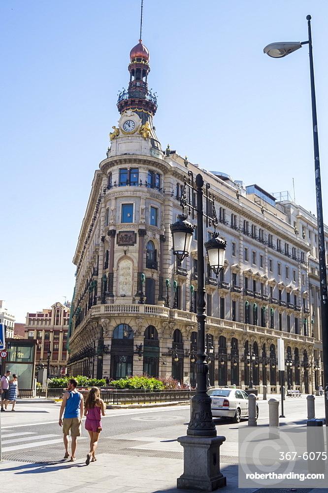 Banco Espanol de Credito building, Madrid, Spain, Europe