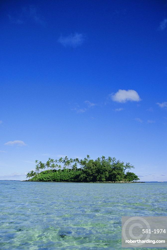 Tropical desert island, Rarotonga, Cook Islands, South Pacific, Pacific