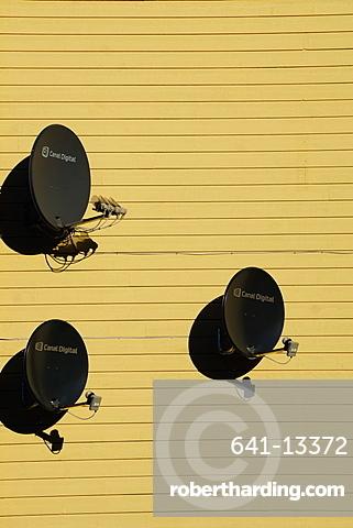 Satellite dishes, Norway, Europe