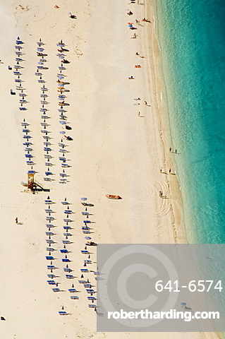 Myrtos Beach, the best beach for sand near Assos, Kefalonia (Cephalonia), Greece, Europe