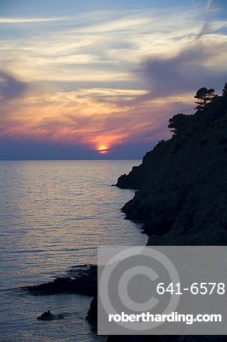 Sunset, Assos, Kefalonia (Cephalonia), Greece, Europe