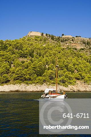 Assos Castle, Assos, Kefalonia (Cephalonia), Ionian Islands, Greece, Europe