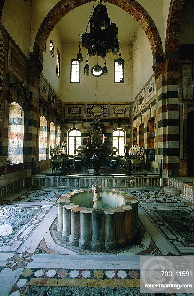 Syria, Damascus, Azem Palace Built In 1749 By Turkish Governor Assad Pasha Al Azem, The Qaa (Pasha Reception Room)