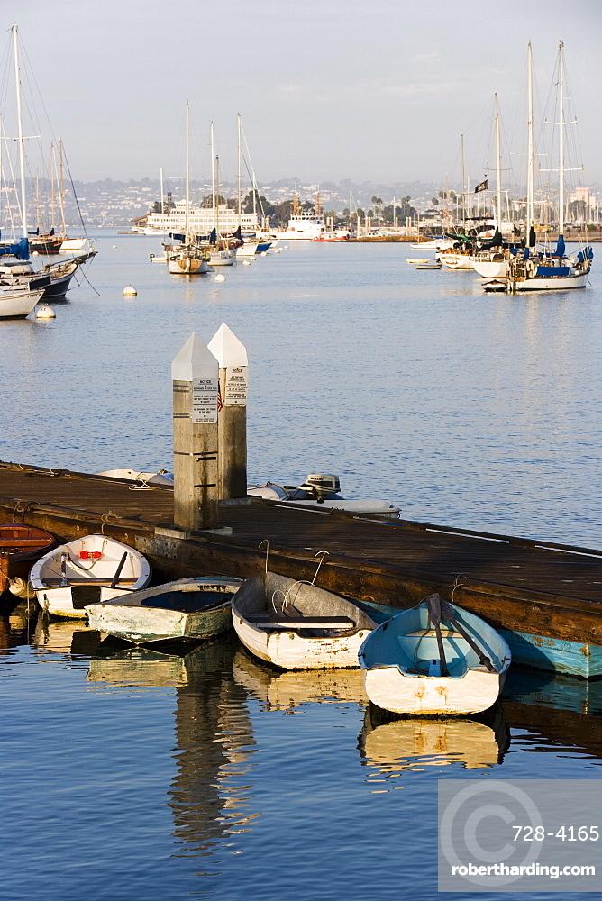 Boats in San Diego Bay, California, United States of America, North America