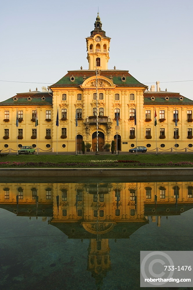 City Hall, dating from 1799, designed by Istvan Vedres and Janes Schwortz, Szeged, Hungary, Europe