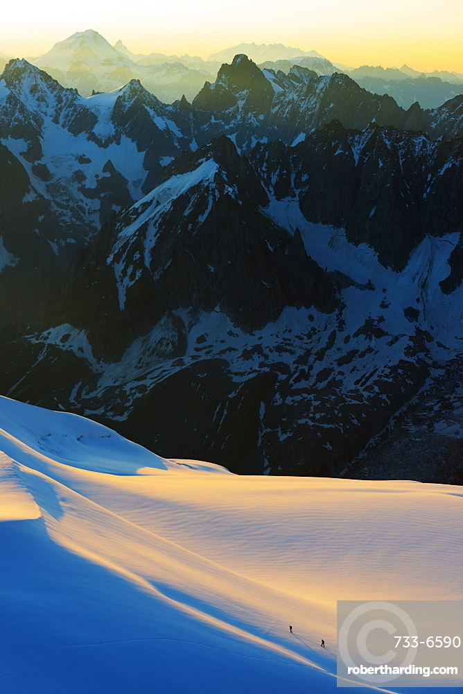 Aiguille du Midi sunrise, Chamonix, Rhone Alps, Haute Savoie, France, Europe