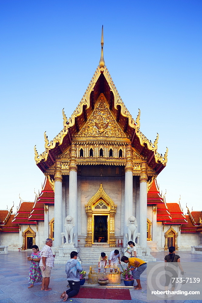South East Asia, Thailand, Bangkok, The Marble Temple, Wat Benchamabophit
