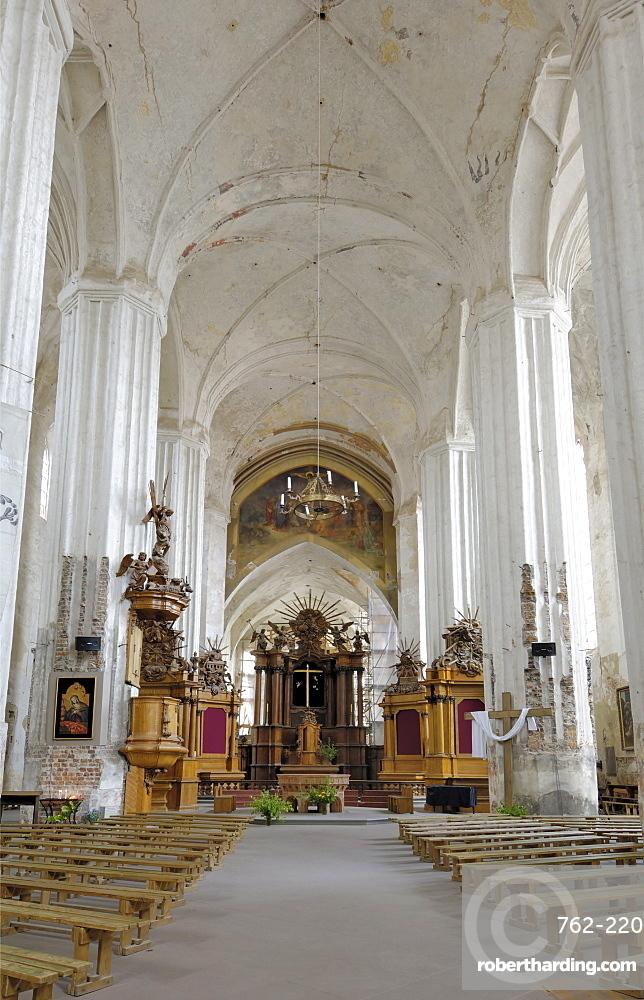 Interior of Bernardine church and monastery, Vilnius, Lithuania, Baltic States, Europe