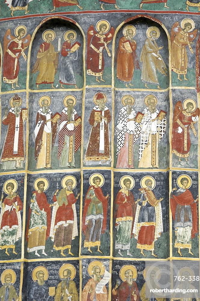 Painted monastery of Sucevita, Moldavia, Southern Bucovina, Romania, Europe