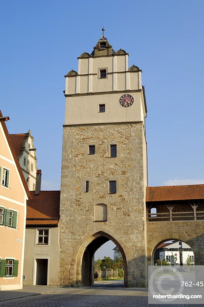 Nordlingertor (Nordlinger Gate), Dinkelsbuhl, Bavaria (Bayern), Germany, Europe