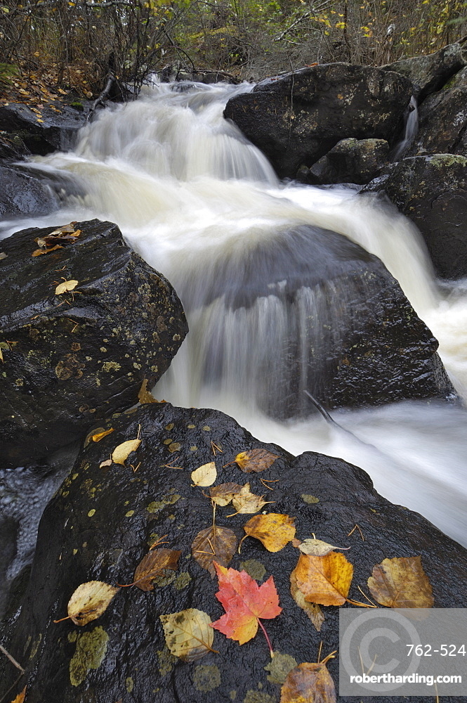 Waterfall, Louse River, Boundary Waters Canoe Area Wilderness, Superior National Forest, Minnesota, United States of America, North America