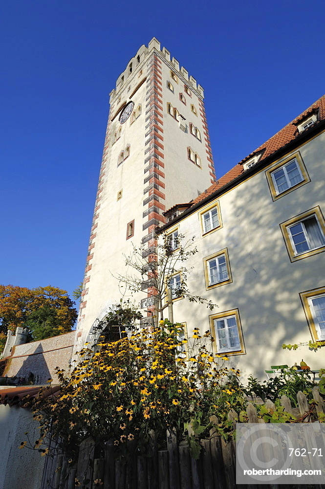 Bayertor (Bayer Gateway) in the city walls, Landsberg am Lech, Bavaria (Bayern), Germany, Europe