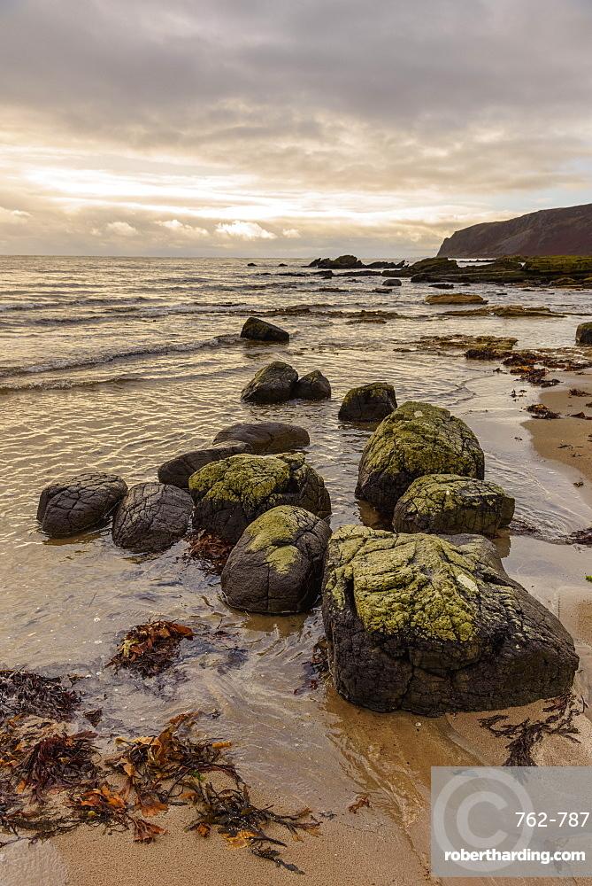 Kildonan shore, Isle of Arran, North Ayrshire, Scotland, United Kingdom, Europe