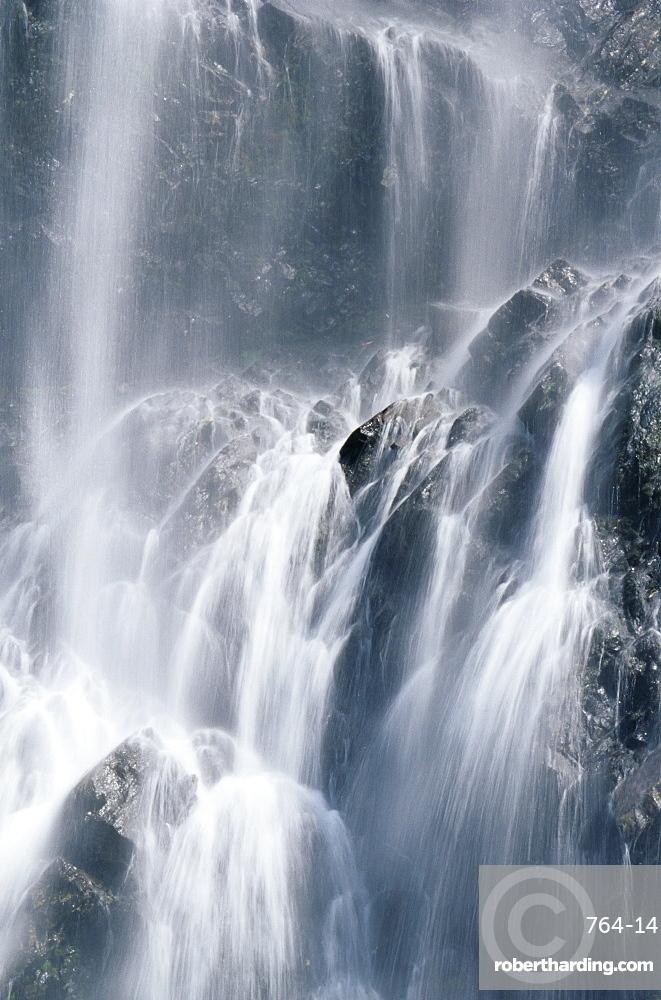 Bridal Veil Falls, near Valdez, Alaska, United States of America, North America