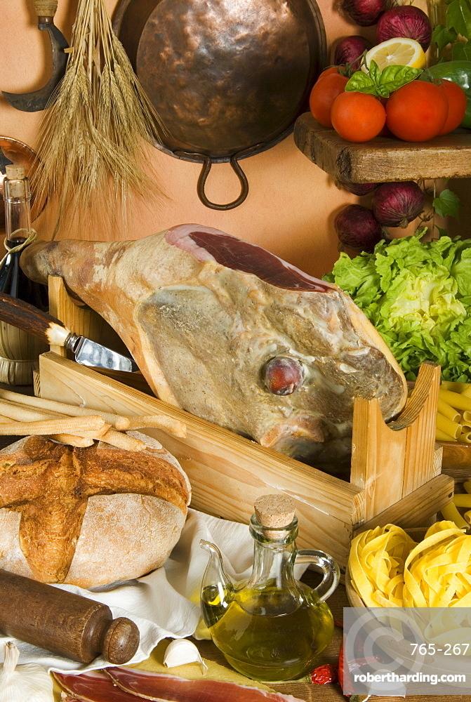 Prosciutto (Italian ham), Italy, Europe