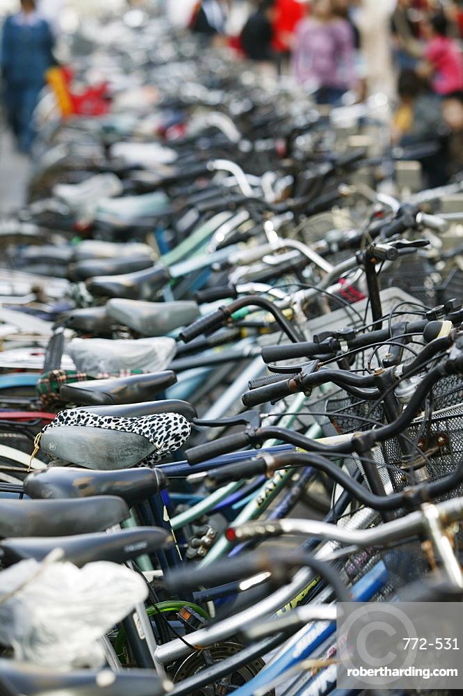 Bicycles, Beijing (Peking), China, Asia