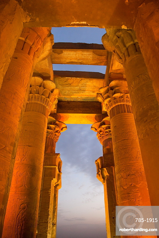 The ancient Egyptian Temple of Kom Ombo near Aswan, Egypt, North Africa, Africa